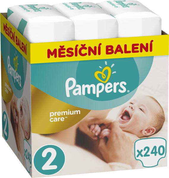 Pampers Plenky Premium Monthly Box S2 240 + dárek Pampers Plenky Premium Monthly Box S2 240 zdarma