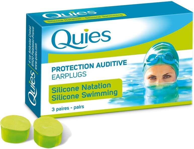 Quies Silik.chrániče sluchu MAXI 3 páry -plavání
