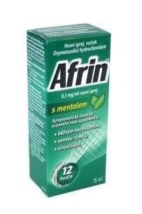 AFRIN 0,5 MG/ML NOSNÍ SPREJ S MENTOLEM 0,5MG/ML nosní podání SPR SOL 15ML