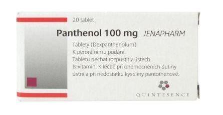 PANTHENOL 100 MG JENAPHARM 100MG neobalené tablety 20