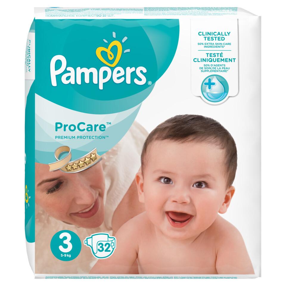 Pampers Pro Care Plenky S3 32 ks