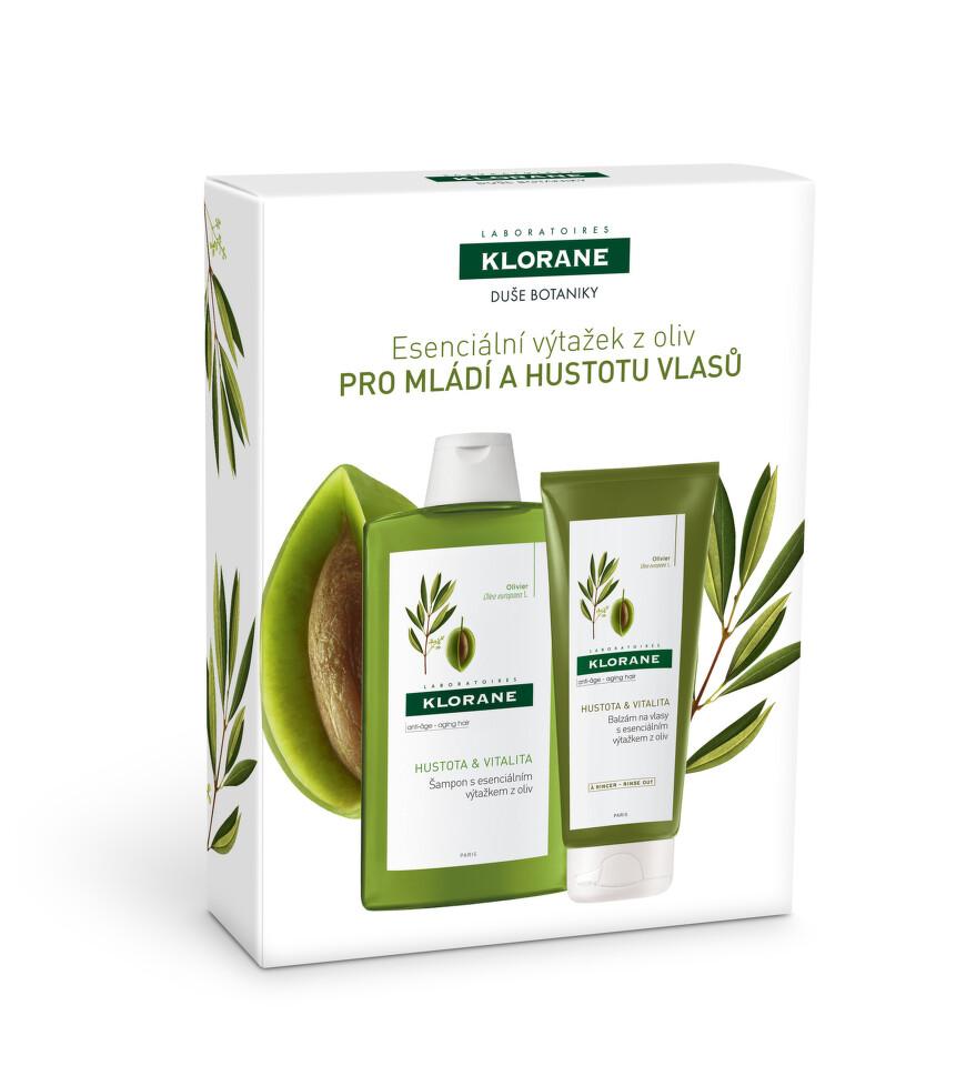 KLORANE Šampon s výtažkem z oliv 400ml+balzám200ml