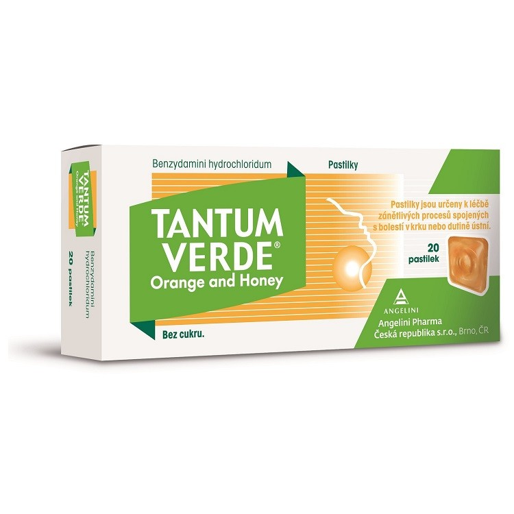 TANTUM VERDE ORANGE AND HONEY 3MG pastilka 20