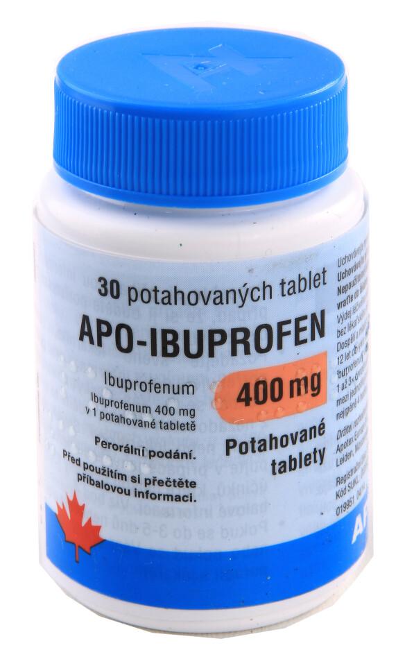 APO-IBUPROFEN 400MG potahované tablety 30