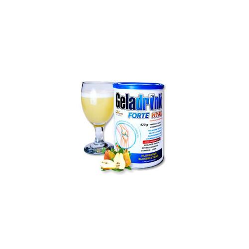 Orling Geladrink Forte Hyal 420 g příchuť hruška