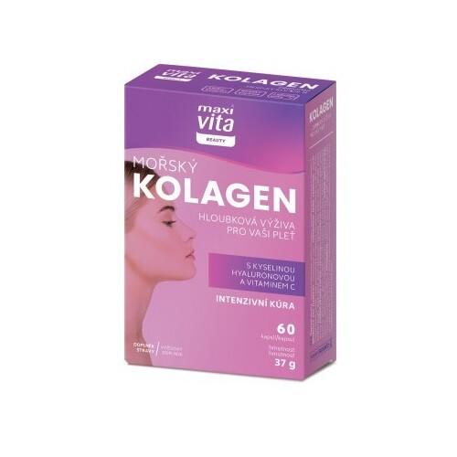 MaxiVita Beauty Mořský kolagen+kys.hyalur.cps.60