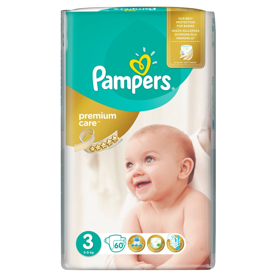 PAMPERS Premium Care Midi 3 60ks