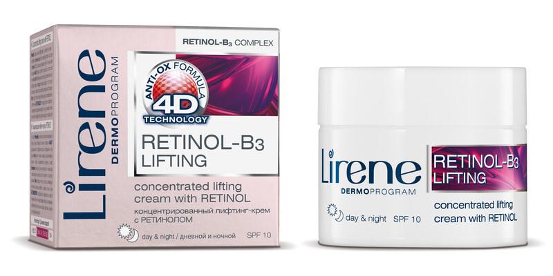 Lirene 4D Retinol B3 lifting Den a noc krém 50ml