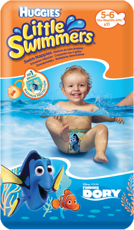 HUGGIES Little Swimmers vel.5-6 / 12-18kg 11ks