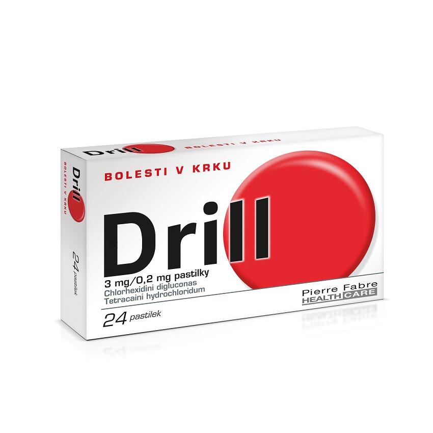 Drill na bolest v krku, 24 pastilek