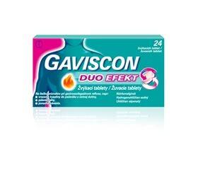 GAVISCON DUO EFEKT 250MG/106,5MG/187,5MG žvýkací tableta 24