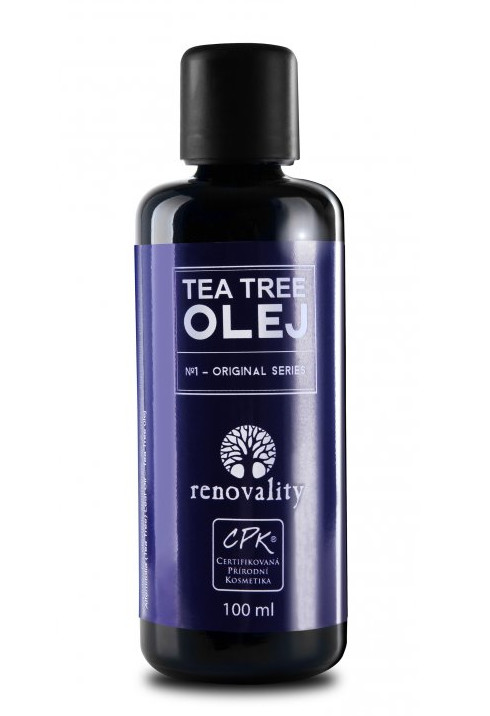Tea Tree olej s kapátkem Renovality 100ml