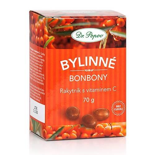 Dr.Popov Bonbony Rakytník s vitamínem C 70g