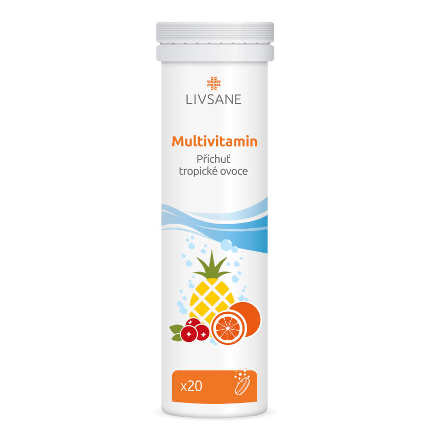LIVSANE Šumivé tablety Multivitamin 20ks