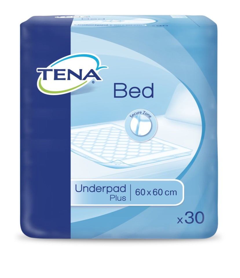TENA - Inkontinenční podložka na lůžko, 60x60cm (30ks)