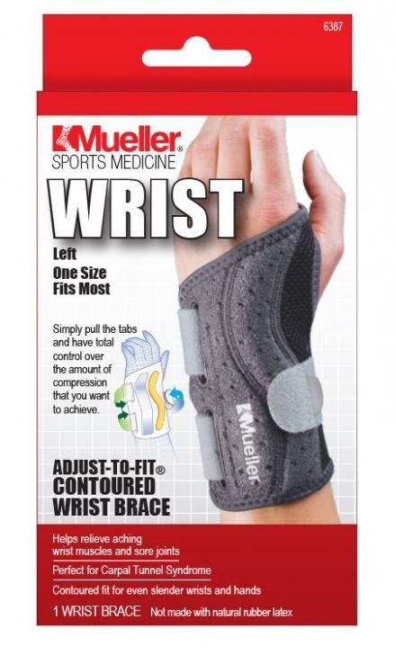 Mueller Adjust to fit ortéza na zápěstí levá