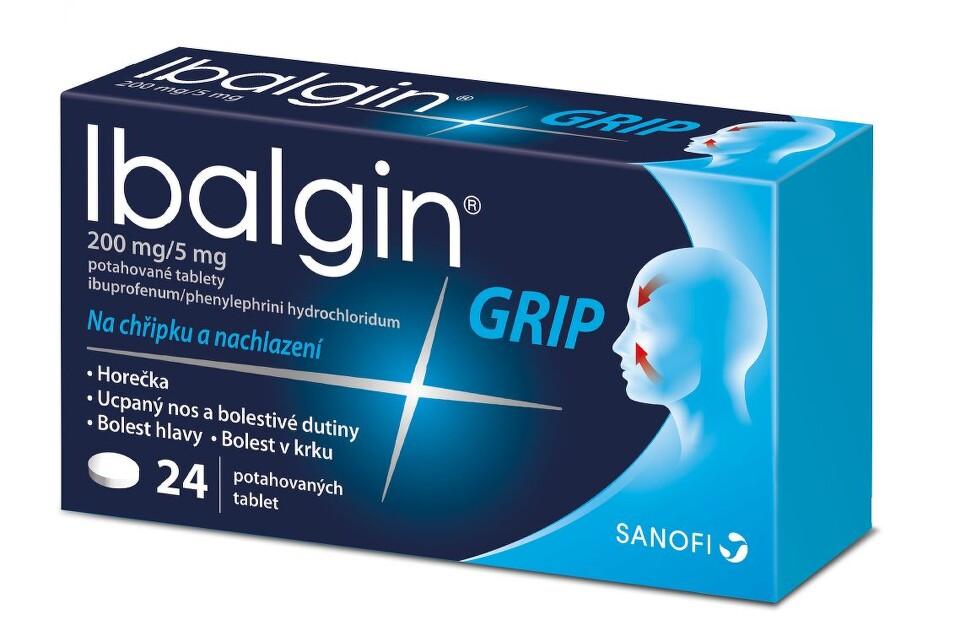 IBALGIN GRIP 200MG/5MG potahované tablety 24