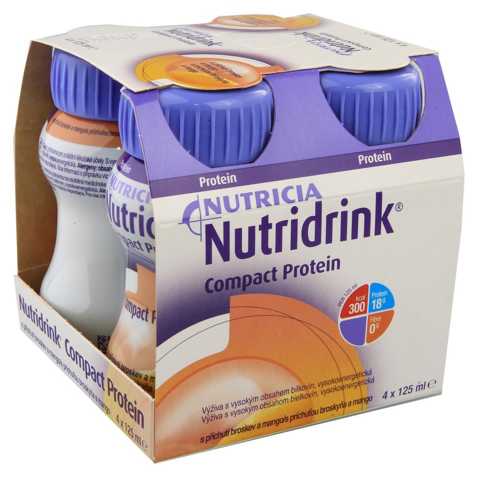 NUTRIDRINK COMPACT PROTEIN S PŘÍCHUTÍ BROSKEV A MANGO perorální SOL 4X125ML
