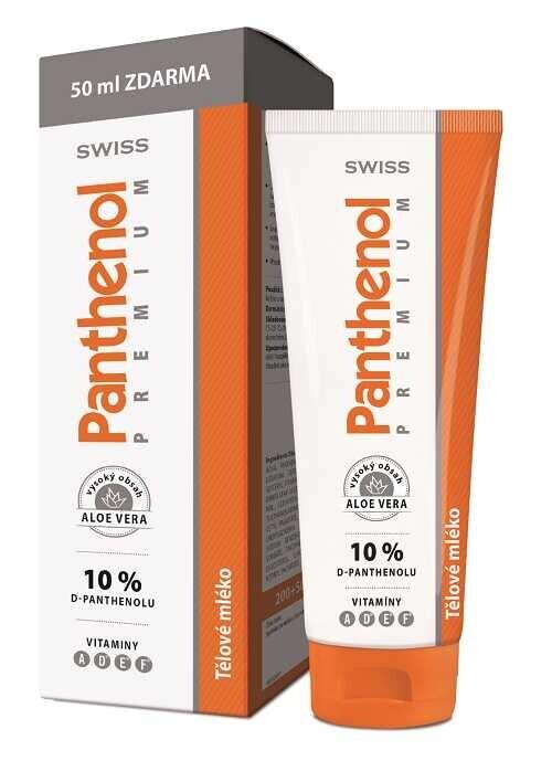 Panthenol 10% Swiss PREMIUM těl.mléko 200+50ml