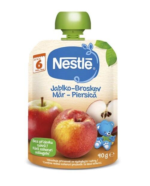 NESTLÉ kapsička ovocná Broskev/Jablko 90g