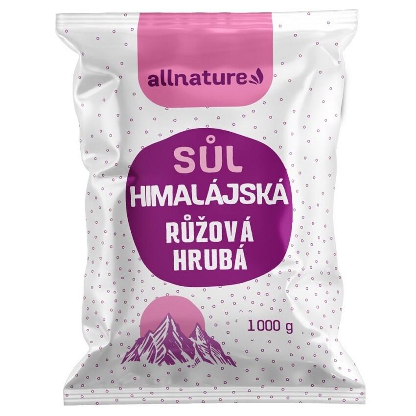Allnature Himalájská sůl růžová hrubá 1000g
