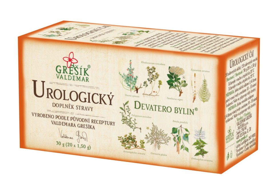 Grešík Devatero bylin Urologický čaj n.s.20x1.5g