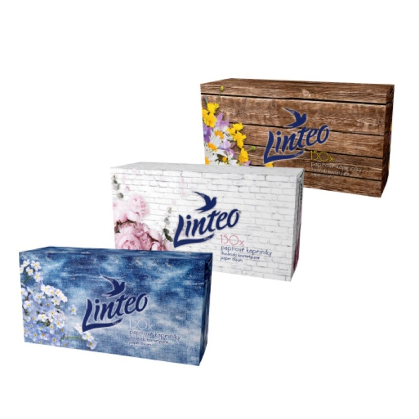 Kapesník papírový Linteo Satin Box 150ks