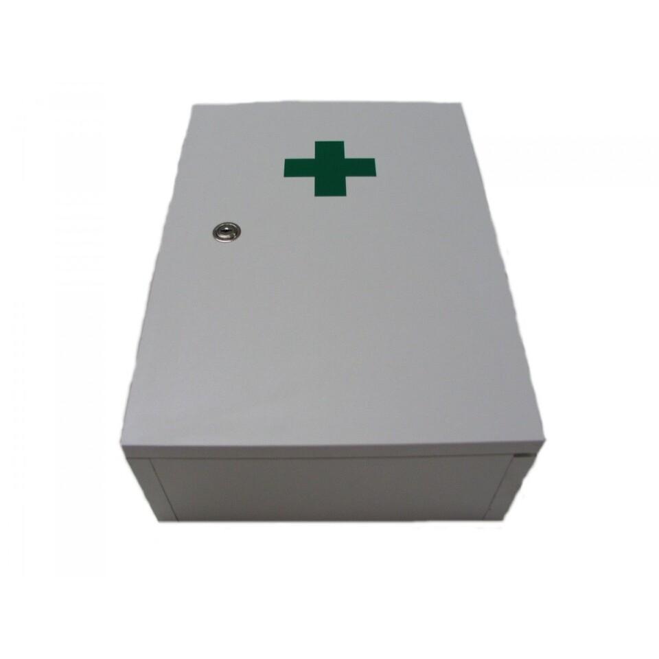 Lékárnička nást.dřevěná bílá do 30 osob Steriwund