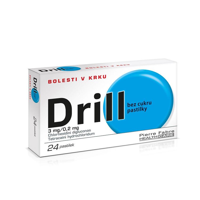 Drill bez cukru pastilky, 24 pastilek