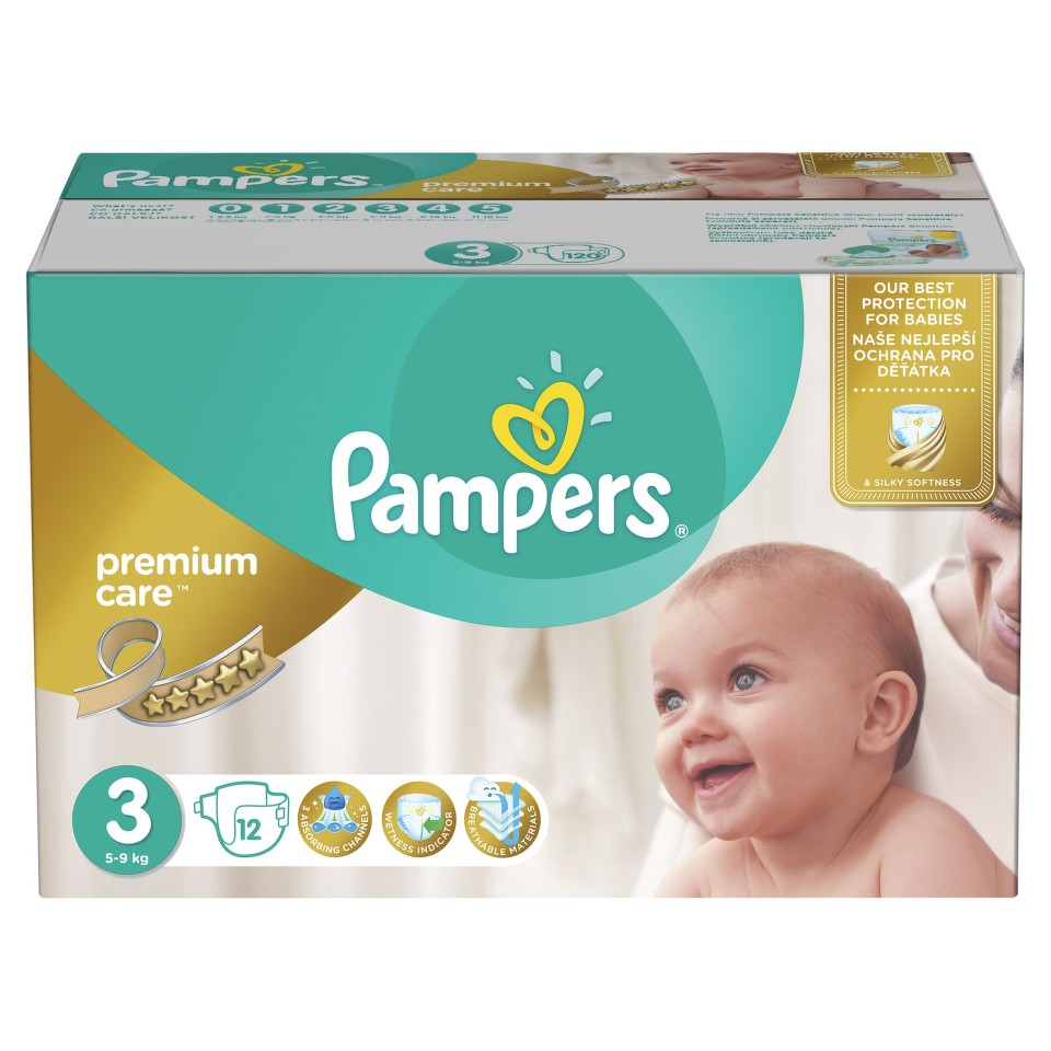 Pampers Plenky Premium Mega Box S3 120