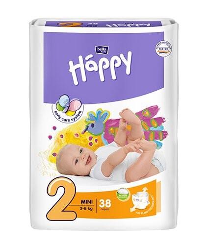 Happy Mini dětské pleny 38ks