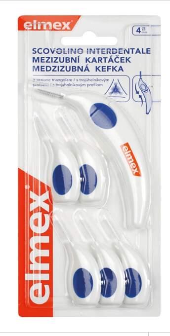Elmex mezizubní kartáčky 4mm (6ks)