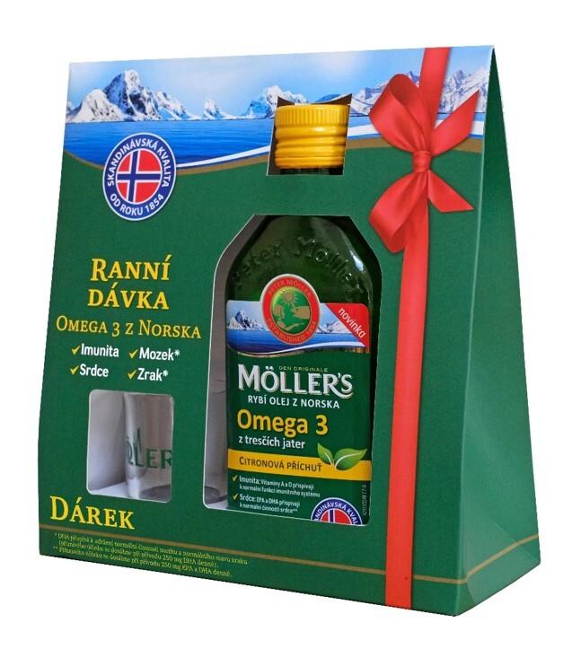 Mollers Omega 3 citron 250ml dárkové balení