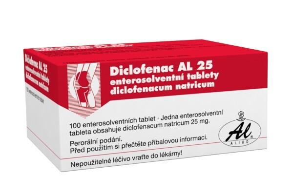 DICLOFENAC AL 25MG enterosolventní tableta 100