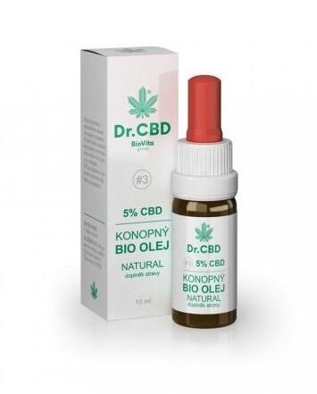 Dr.CBD 5% CBD konopný BIO olej 10 ml