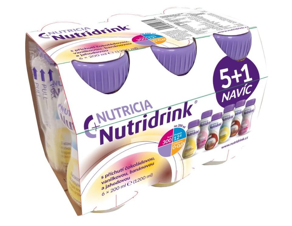 NUTRIDRINK BALÍČEK 5 + 1 perorální SOL 6X200ML