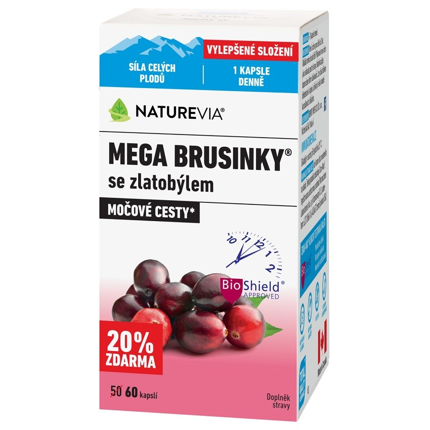 Swiss NatureVia Mega brusinky cps.60