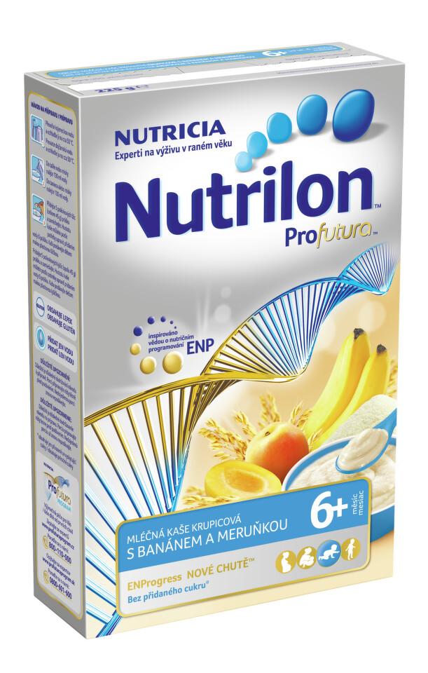 Nutrilon kaše Profutura banán meruňka 225g 6M