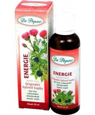 Dr.Popov Kapky bylinné Energie 50ml