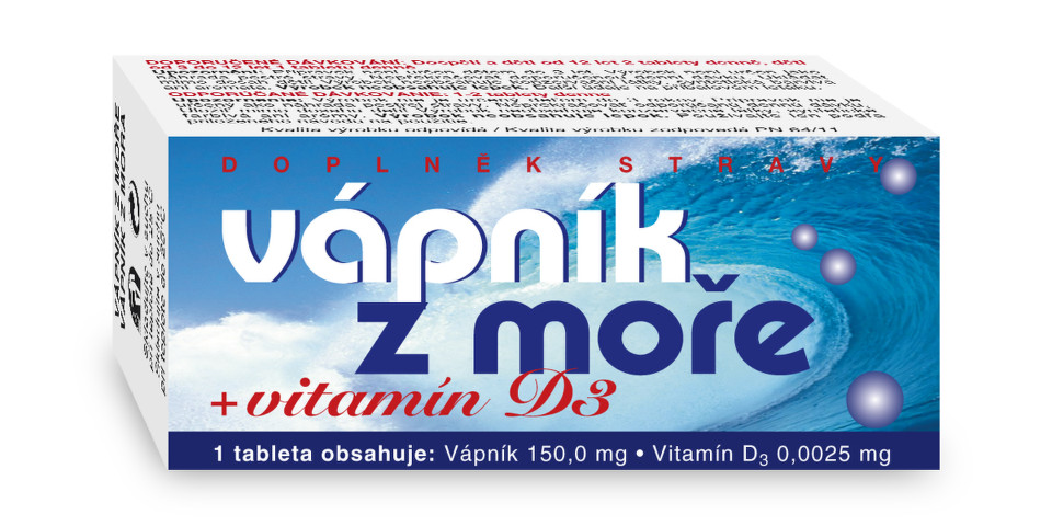 NATURVITA Vápník z moře + Vitamín D3 tbl.60