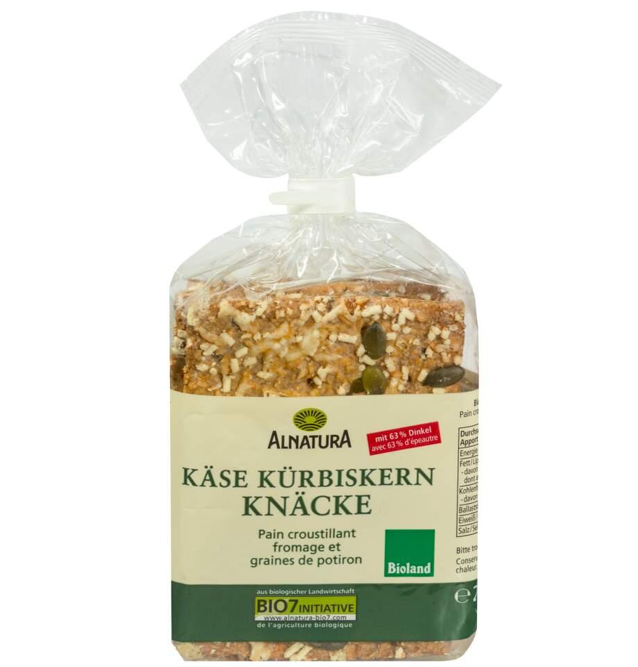 Alnatura Sýr a dýňová semínka knackebrot BIO 200g
