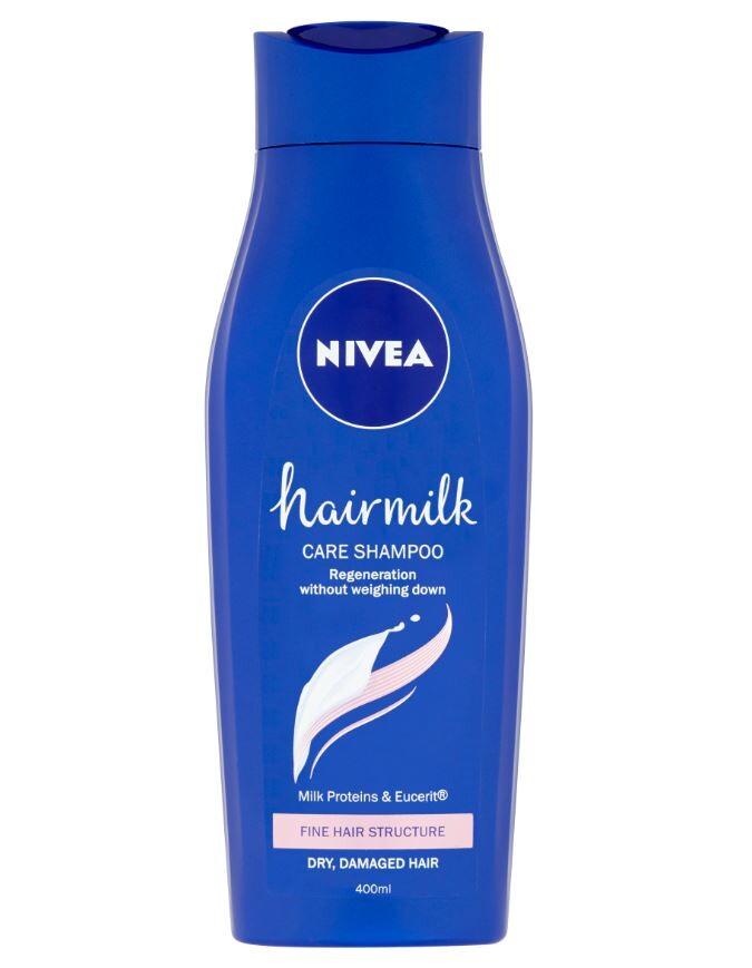 NIVEA Šampon Hairmilk Jemné vlasy 400ml 88655