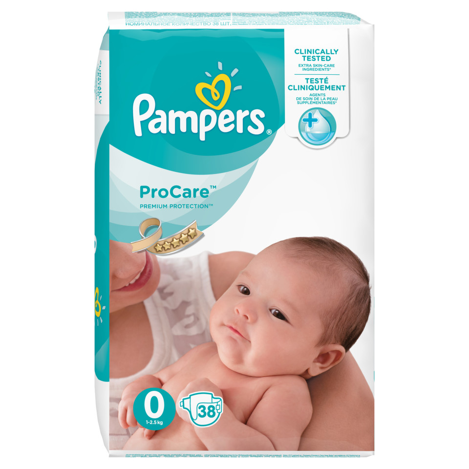 Pampers Pro Care Plenky S0 38 ks