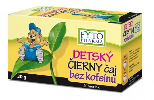 Dětský černý čaj bez kofeinu 20x1.5g Fytopharma