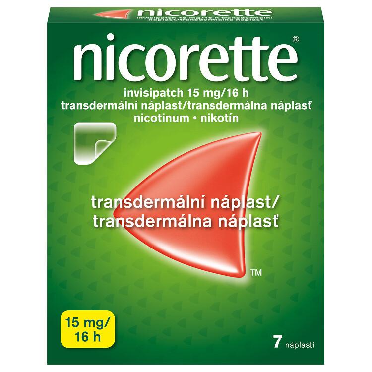 Nicorette® invisipatch 15 mg/16 h transdermální náplast, 7 náplastí