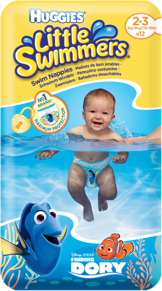 HUGGIES KIMBERLY-CLARK KLEENEX Little Swimmers 2-3 / 3-8kg 12ks