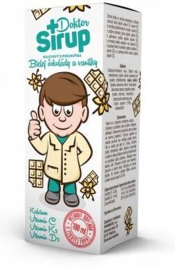 Doktor Sirup kalciový Bílá čokoláda+vanilka 100ml