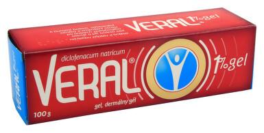 VERAL 1% GEL kožní podání gely 1X100GM II