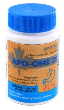 APO-OME 20 perorální enterosolventní tvrdé tobolky 14X20MG