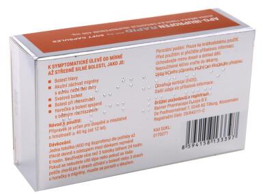 APO-IBUPROFEN RAPID 400 MG SOFT CAPSULES perorální měkké tobolky 20X400MG